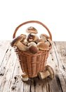 Ceps On Wooden Table Royalty Free Stock Images - 44889949