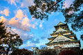 Osaka Castle In Osaka, Japan During A Colorful Pastel Summer Sun Royalty Free Stock Photos - 44899348