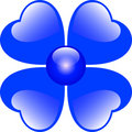 Blue Hearts Flower Royalty Free Stock Photo - 4492495