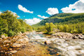 Norway Nature Cold Water Mountain River Stock Images - 44904144