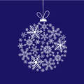 Christmas Card With A Ball Of Snowflakes Stock Photography - 44904152