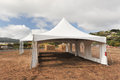 White Tents In A Dry Field Outdoors Royalty Free Stock Image - 44923316