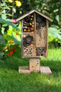 Wooden Insect House Garden Decorative Bug Hotel And Ladybird And Stock Photo - 44925660