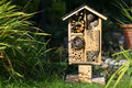 Wooden Insect House Garden Decorative Bug Hotel And Ladybird And Royalty Free Stock Photography - 44925737