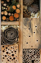 Wooden Insect House Garden Decorative Bug Hotel And Ladybird And Royalty Free Stock Photos - 44926008