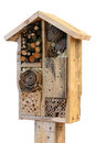 Wooden Insect House Garden Decorative Bug Hotel And Ladybird And Royalty Free Stock Photos - 44926238