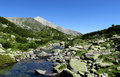 Pirin Mountains In Bulgaria, Gray Rock Summit During The Sunny Day With Clear Blue Sky Royalty Free Stock Photography - 44929057