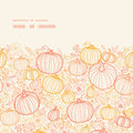 Vector Thanksgiving Line Art Pumkins Horizontal Stock Photos - 44929503