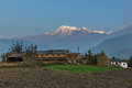 Sunrise In Annapurna Range (himalaya) From A Small Village Nepal - Asia Royalty Free Stock Photography - 44944607