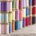 Colorful Spools Of Thread Stock Image - 44970071