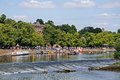 Weir On River Dee, Chester. Stock Photo - 44980870
