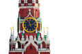 Isolated Kremlin Clock View On White Background Royalty Free Stock Image - 44982716