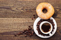 Donut With Sugar And Coffee Stock Images - 44982894