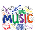 Music Background Color Sketch Stock Photography - 44988772