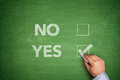 Yes Or No, Two Choices Written On Blackboard Royalty Free Stock Photos - 44996878