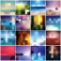 Collection Of Blurred Colorful Abstract Backgrounds Royalty Free Stock Photo - 45005055