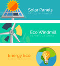 Eco-friendly Energy Flat Design Concepts, Banners Stock Photography - 45006232
