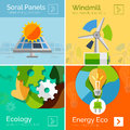 Eco-friendly Energy Flat Design Concepts, Banners Stock Photo - 45006250