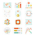 Data Analytic Silhouette Icons Royalty Free Stock Image - 45008176