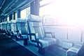 Passenger Train Interior With Empty Eats Royalty Free Stock Photo - 45012095