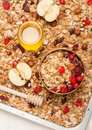 Granola With Berries, Honey And Nuts Stock Photos - 45020193