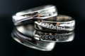 Wedding Day Details - Two Lovely Golden Wedding Rings Stock Photos - 45023513