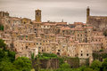 View Of A Green Valley In Sorano Over Red Roofs Stock Images - 45027504