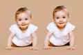 Funny Twins Baby Royalty Free Stock Images - 45033039