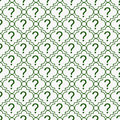 Green And White Question Mark Symbol Pattern Repeat Background Stock Photography - 45038362