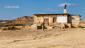 Old Hut In Bardenas Reales Stock Image - 45052061