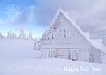 Hut In Winter Royalty Free Stock Photos - 45063158