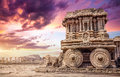 Stone Chariot In Hampi Stock Image - 45074201