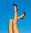 On The Go. Woman Legs Royalty Free Stock Photo - 45077825