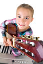 Girl With Guitar Royalty Free Stock Photography - 45077837
