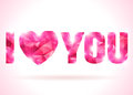 I Love You Message Made Up From Pink Triangles. Royalty Free Stock Photos - 45085068