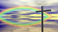 Religion - Cross - Rainbow Stock Image - 45085251