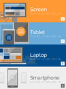 Electronic Devices Flat Design Banners Stock Photos - 45092363