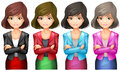 Office Girls In Different Uniforms Royalty Free Stock Photos - 45096018