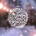 Christmas And New Year Greeting Card. Stock Images - 45096374