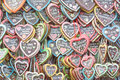 Gingerbread Hearts At Octoberfest Royalty Free Stock Photography - 45097217