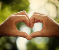 Heart Of Human Hands As Symbol Of Love Royalty Free Stock Photo - 45099405