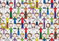 Happy Kids Seamless Pattern Royalty Free Stock Image - 45099586