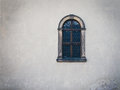 Antique Medieval Window With Iron Bars And Old White Wall Royalty Free Stock Image - 45103846