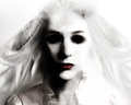 Scary Evil Ghost Woman In White Royalty Free Stock Image - 45107106