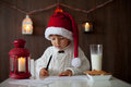 Boy, Writing To Santa Stock Image - 45116981