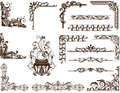Vector Vintage Ornamental Frames And Corners Stock Photography - 45122702