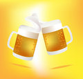 Beer Mugs Cheers Royalty Free Stock Photography - 45132097