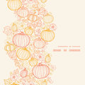Vector Thanksgiving Line Art Pumkins Vertical Royalty Free Stock Images - 45132409