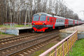 Russian Railways Commuter Electric Train Stock Photography - 45136542