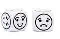 Emoticon Dice With Happy And Sad Expression Sketch Royalty Free Stock Photos - 45138458